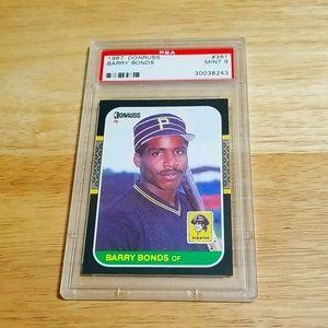 1987 Barry Bonds RC - Donruss # 361 - PSA 9